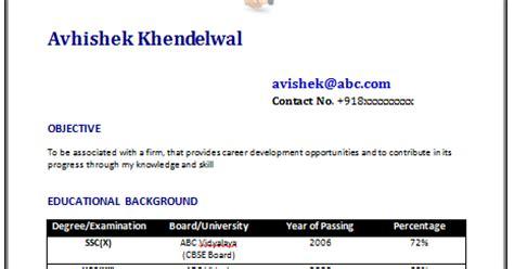 Download sample resume word document